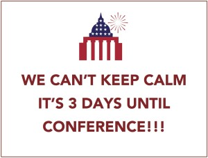 3 days until conference